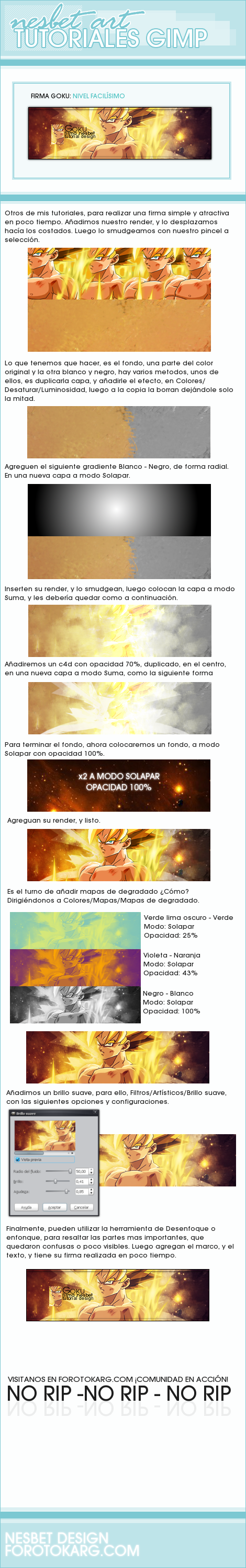 Gimp, crear firma de goku, facil, dragon ball